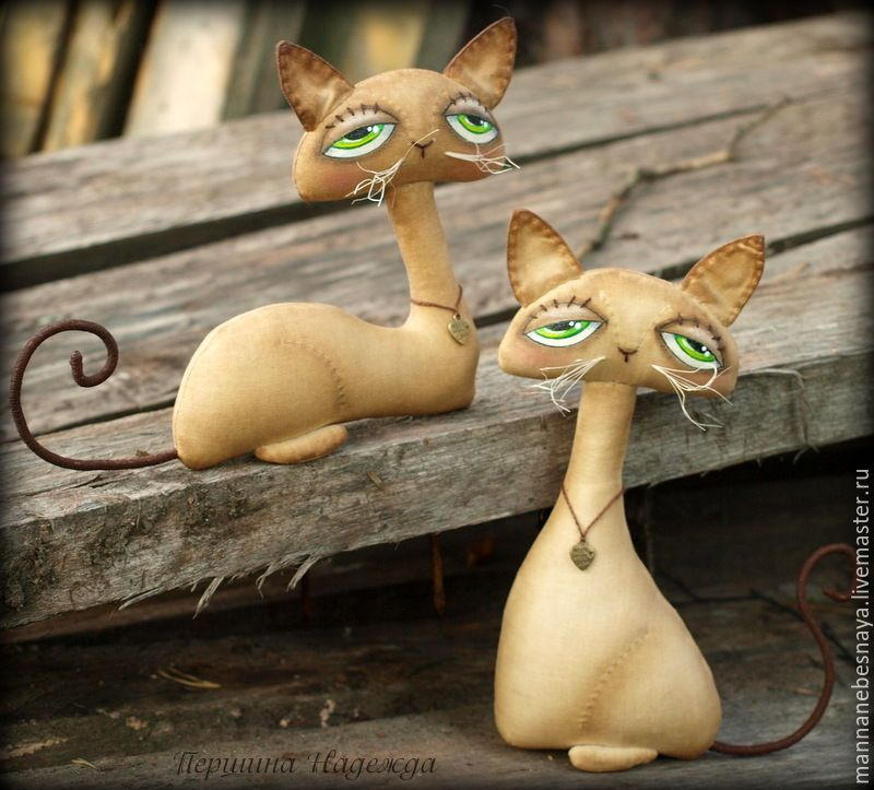 Шьём парочку кофейно-запеченых котиков Sadie и Jinx - Ярмарка Мастеров - ручная…