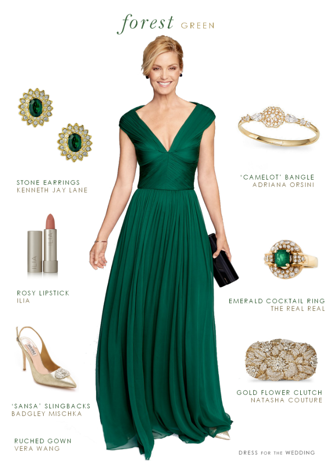 Forest Green Gown | Emerald green dresses, The bride and Gowns
