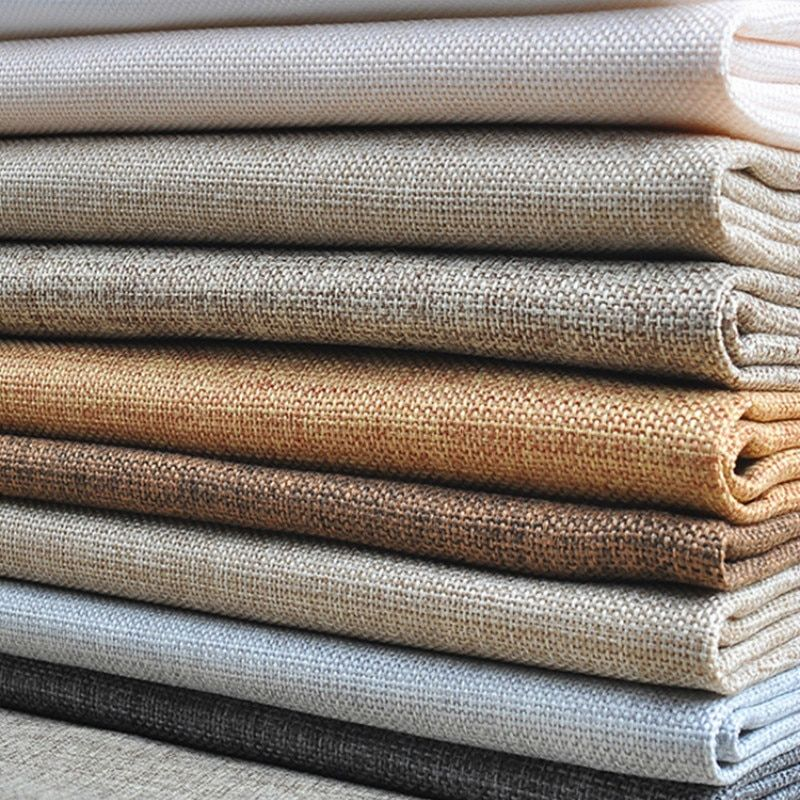 Width 145cm Wholesale Upholstery Sofa Linen Cotton Old Coarse Cloth Solid Color Diy Curtain Canvas Fabric Burlap Fabric Canvas Fabric Linen Sofa