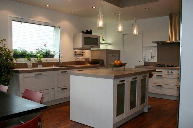 107 idées de îlot central de cuisine fonctionnel et convivial - cuisine ouverte ilot central