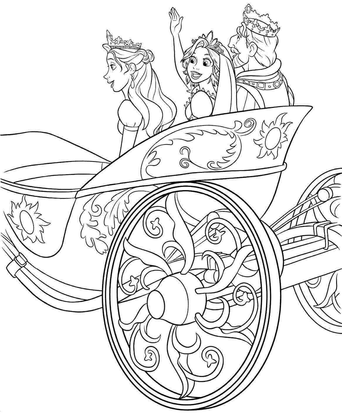 Tangled Rapgunzel Coloring Pages Cards Tangled