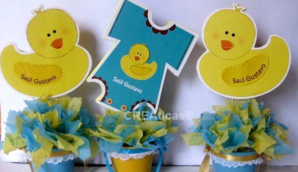 Baby shower Decorations with foam Centros de Mesa para Baby