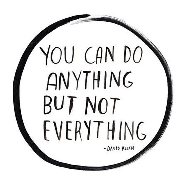 Note to self  You can do anything, but not everything - absence note