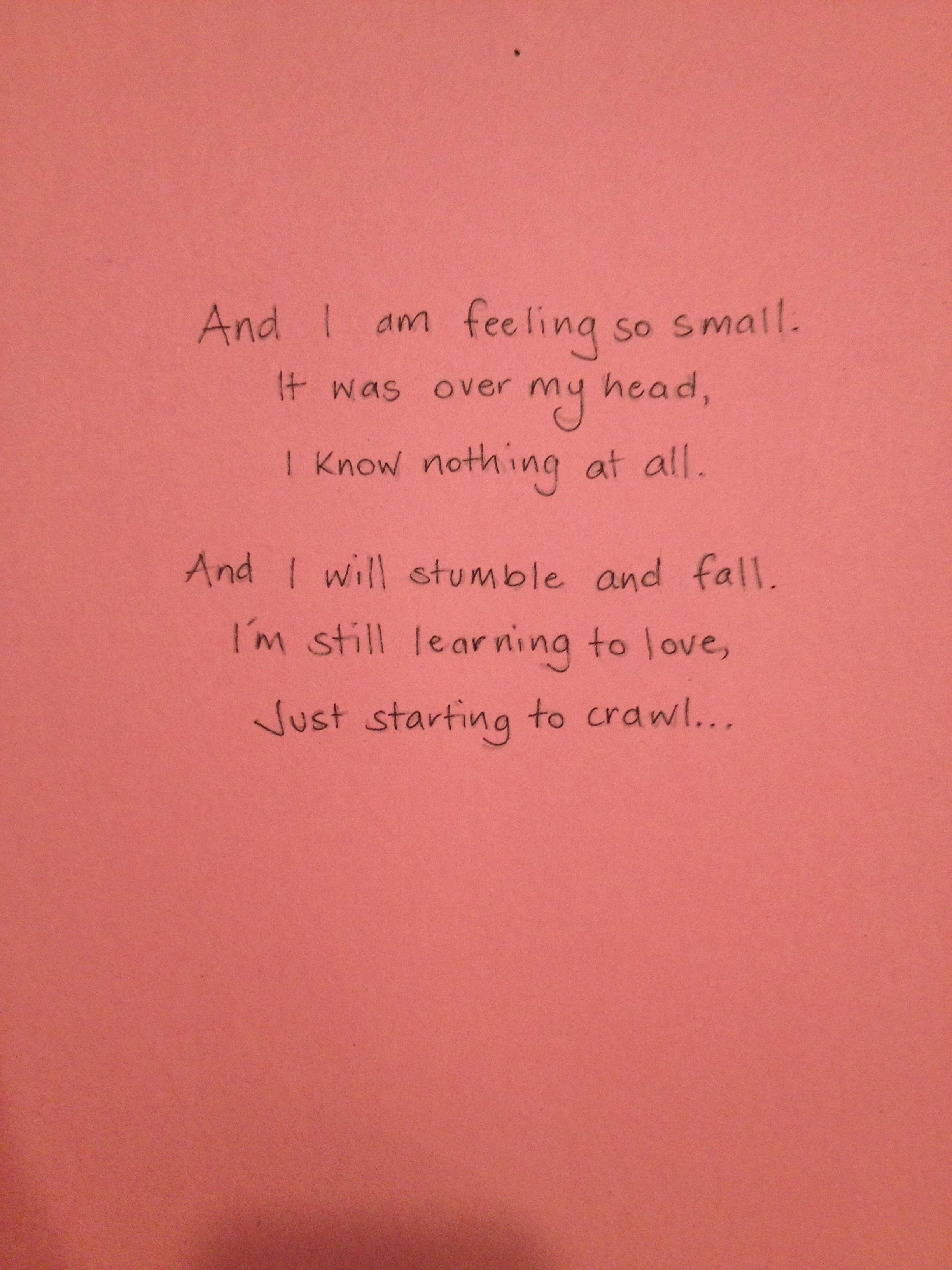 A Great Big World Say Something Favorite Lyrics