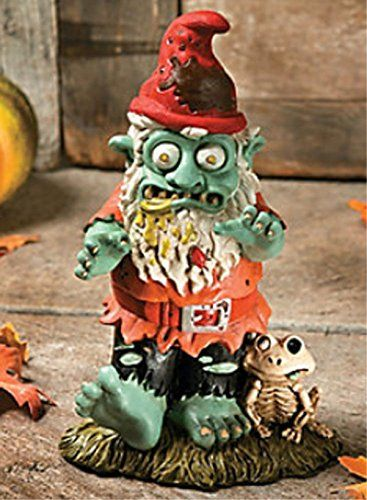 LXQ Zombie Gnome boy Yard Garden Decor Halloween Statue Sculpture - halloween statues