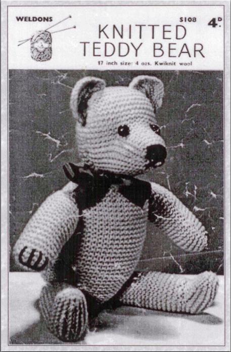 Weldons Teddy Bear Free Vintage Knitting Pattern | Teddy ...