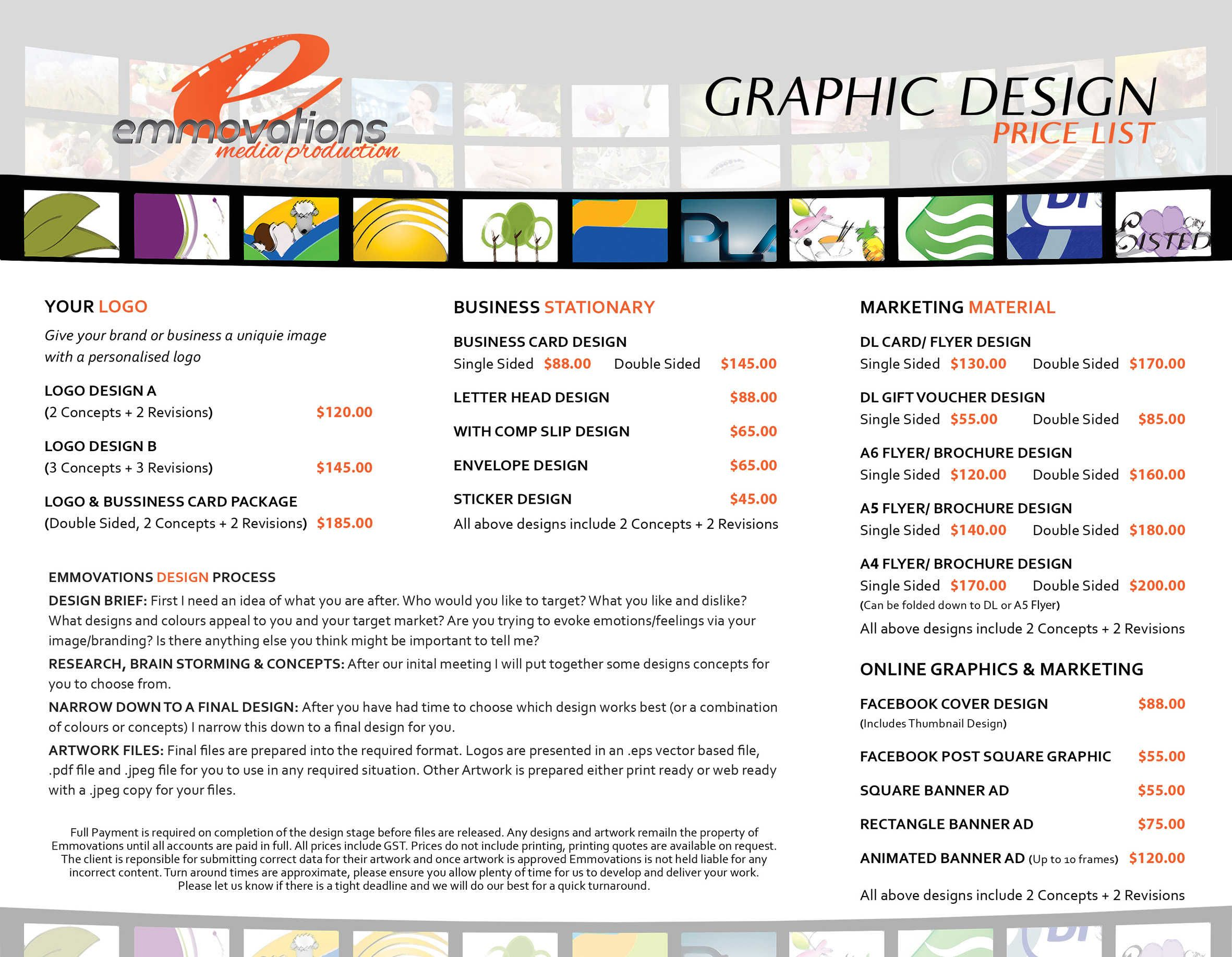 graphic design price list google search branding pinterest