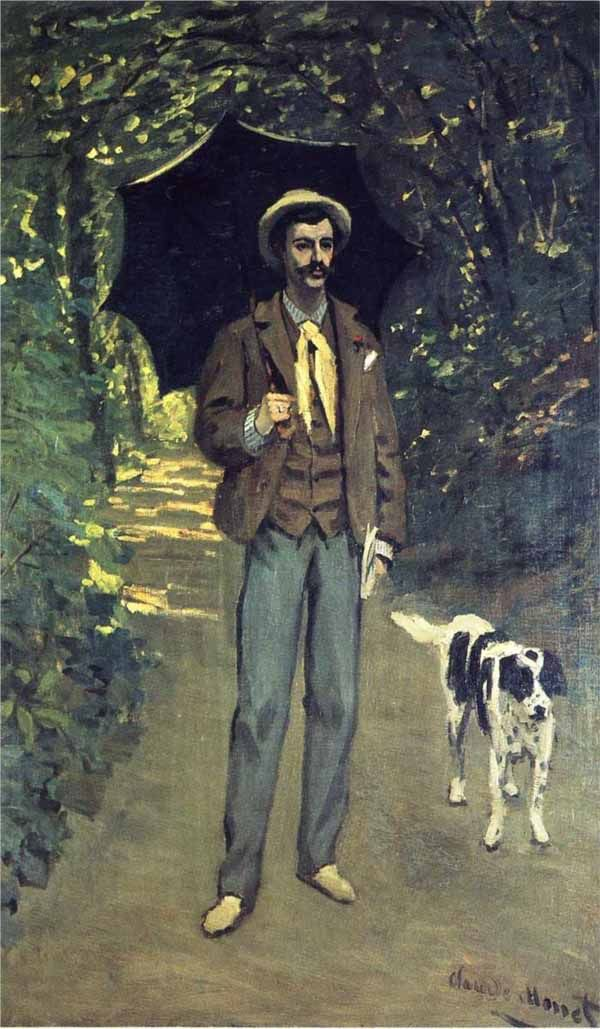 Monet: Victor Jacquemont holding a parasol but not a dog