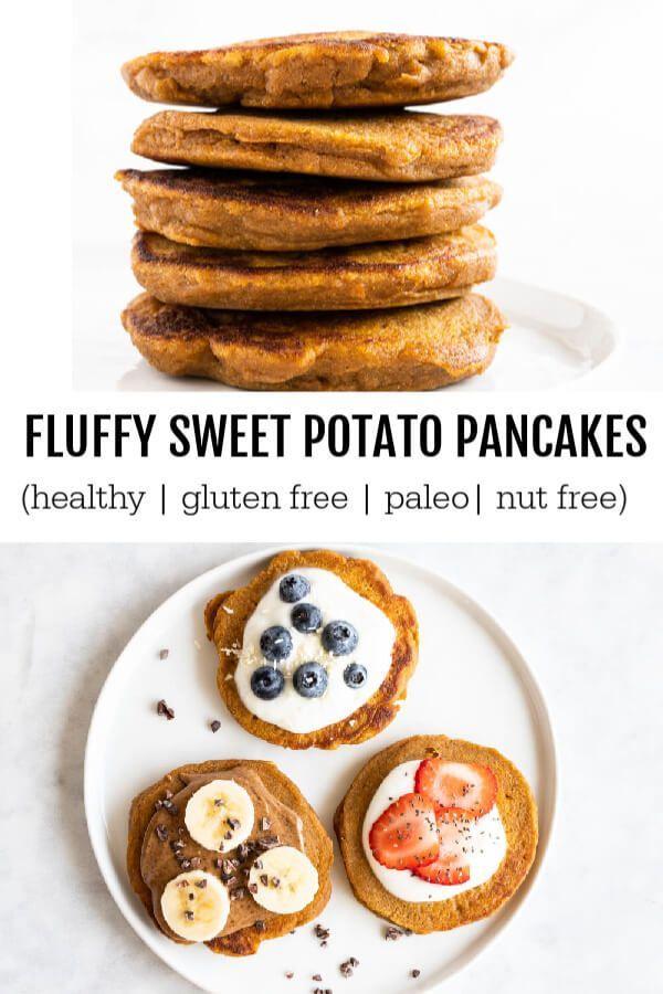 Fluffy Sweet Potato Pancakes (gluten free and paleo) images