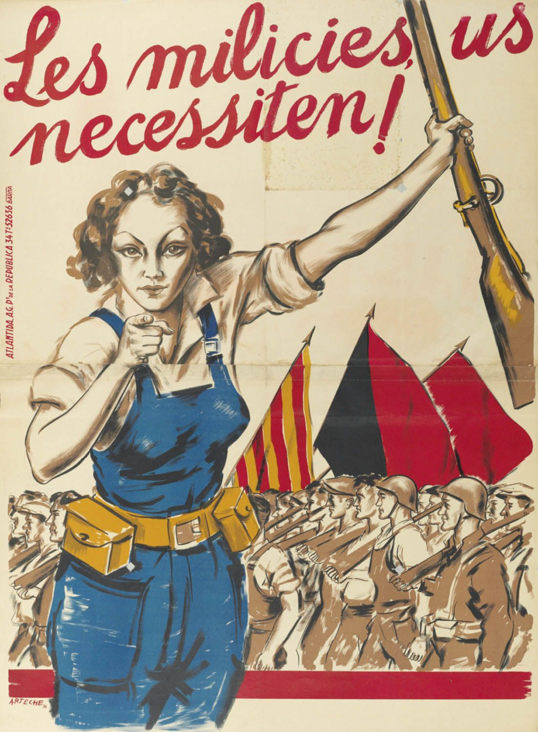 The Militias Needs You Spanish Civil War
