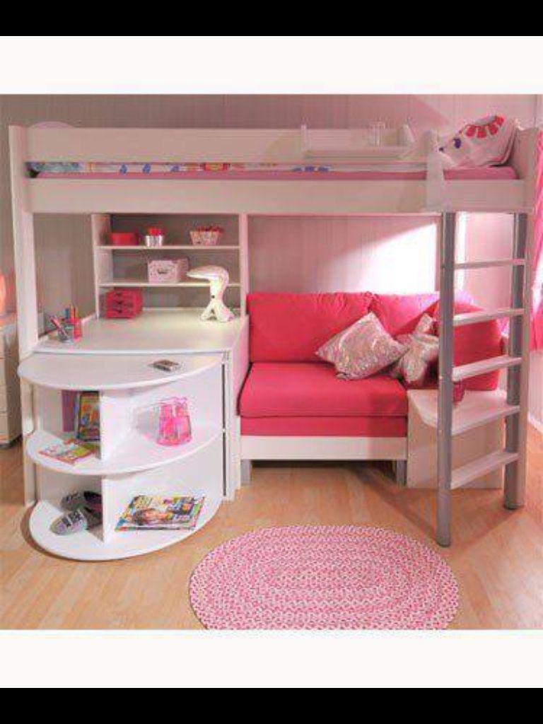 Loft bed with desk teenager  Cute bedroom  Dream room  Pinterest  Bedrooms Room and Room