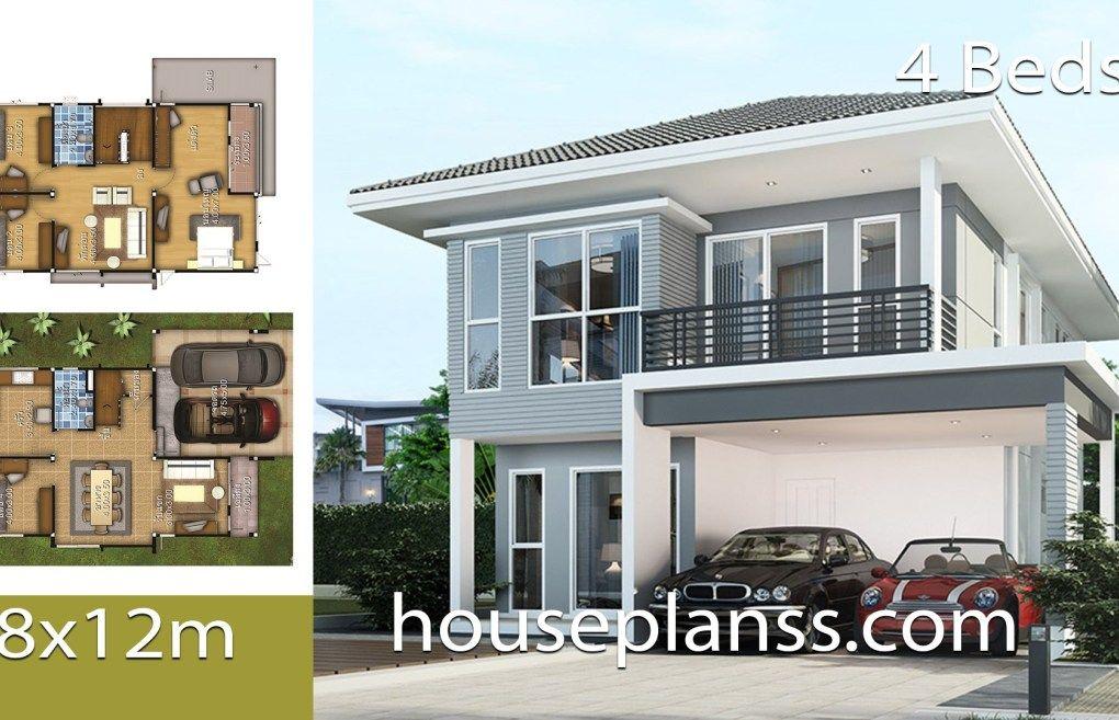 House Plans Idea 8x12 With 4 Bedrooms House Plans 3d Architectural House Plans Philippines House Design Bedroom House Plans