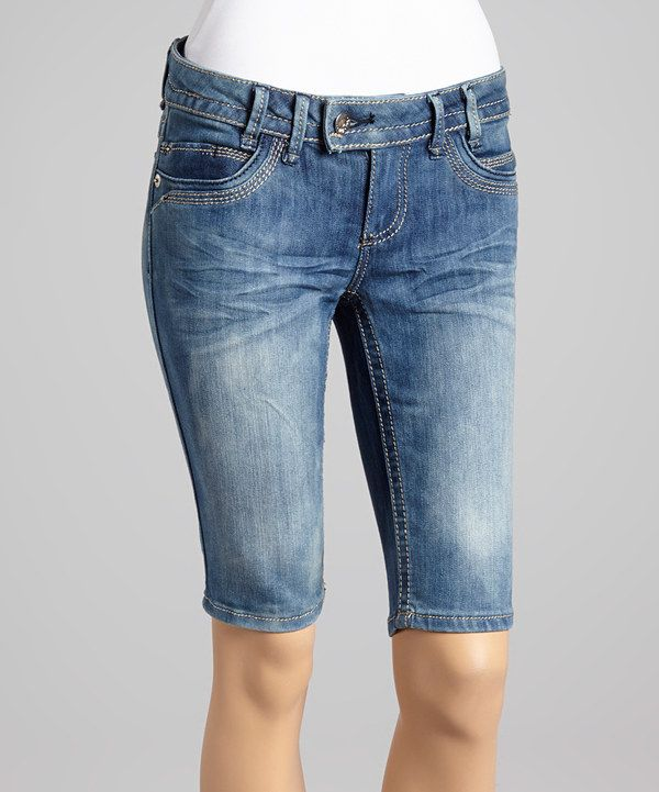 Look at this YMI Blue Denim Bermuda Shorts - Women on #zulily today!