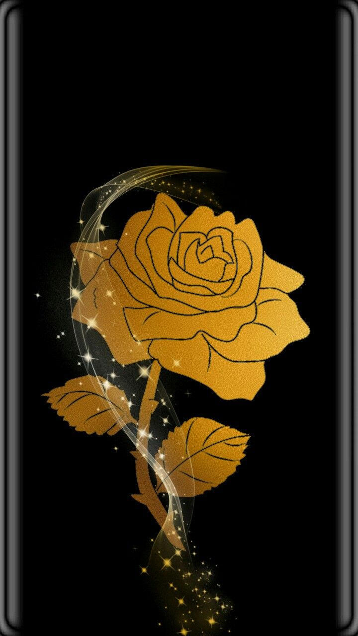 Black \u0026 Gold Rose WallpaperBy Artist Unknown