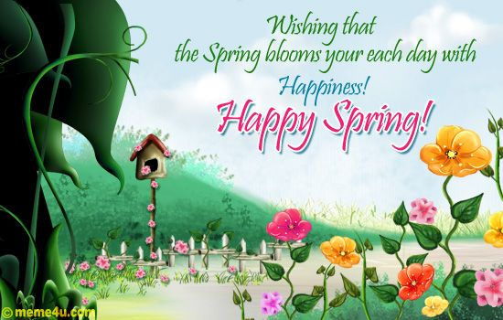 Happy spring images google search easter spring pinterest happy spring happy and spring - Happy spring day image quotes ...