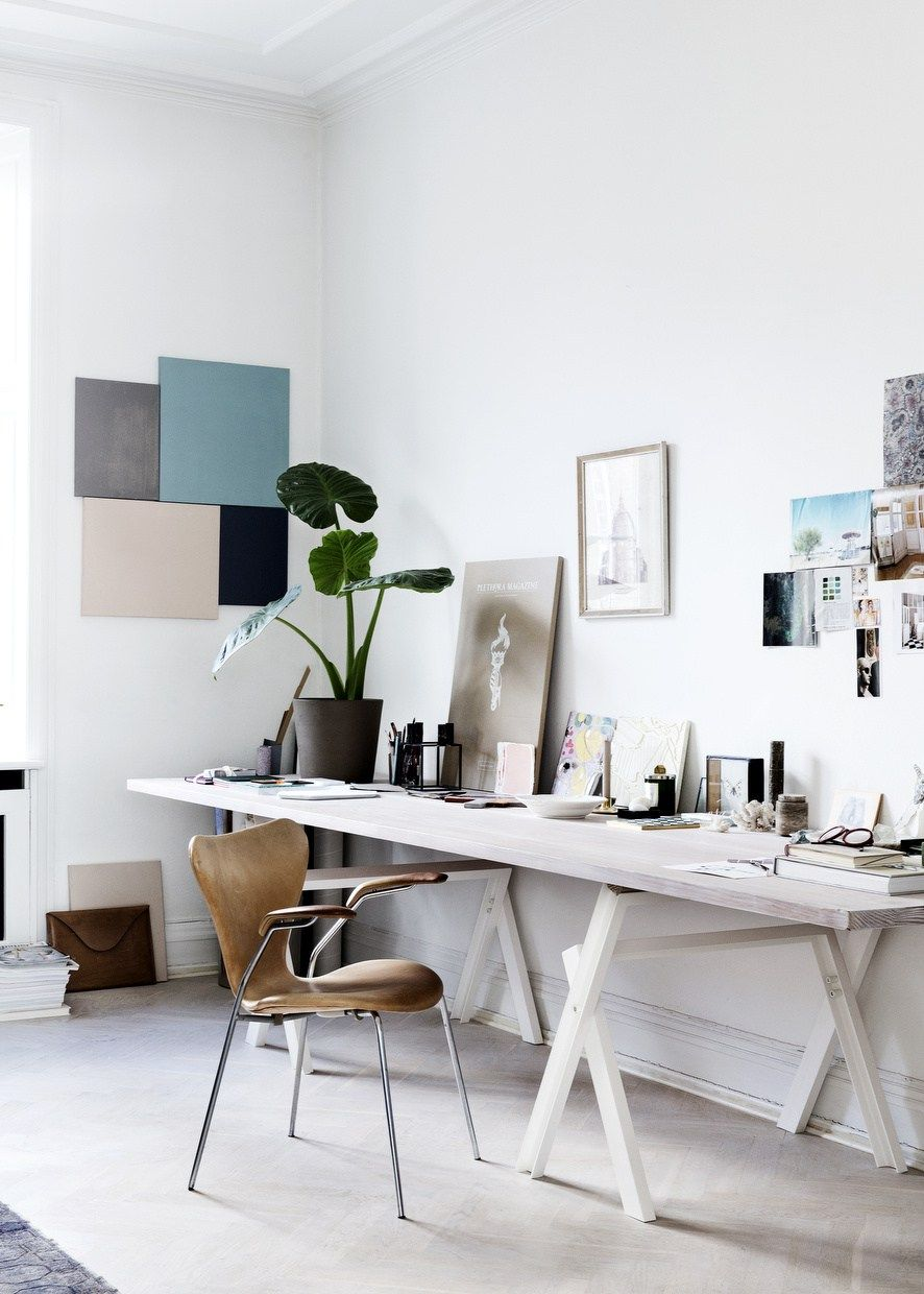 white airy home office. Apartment Contemporary Home Office Desk Set With Diy Wall Art Decoration For Airy Scandinavian Plus Mid Century Modern Accent Superb White B