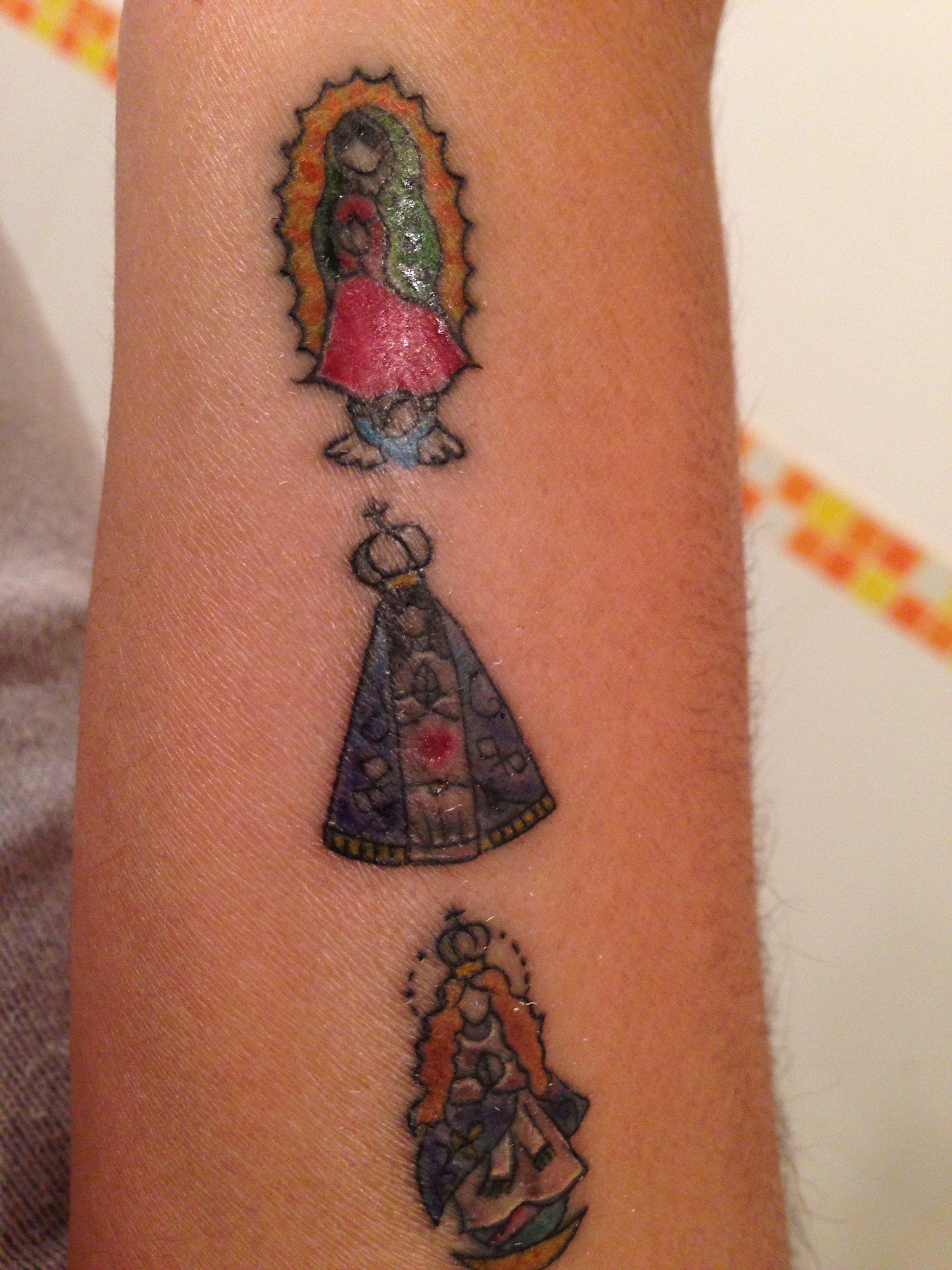 Mini Tattoo Virgen De Guadalupe. Nossa Senhora Aparecida