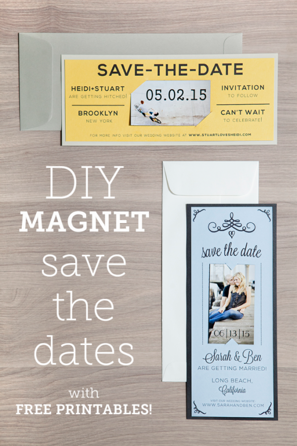 Magnet Save the Date – Free Printable + Tutorial