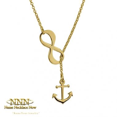Personalize Your Gold Infinity Necklace. Orders Ships Within 24 Hours. Order Now!