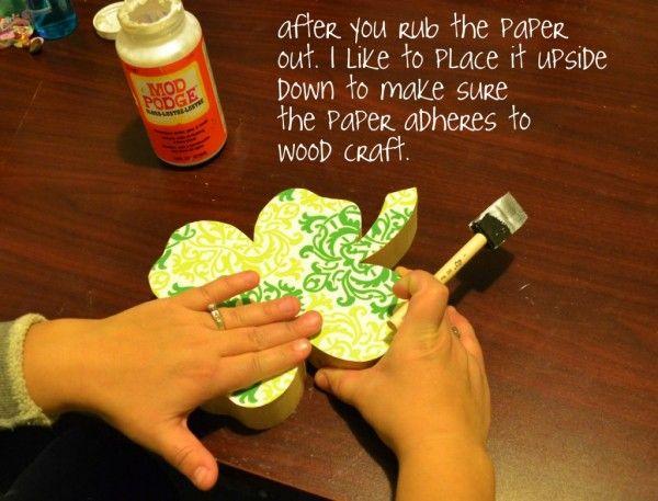 How to mod podge craft paper on wood mod podge crafts wood how to mod podge craft paper on wood sciox Images