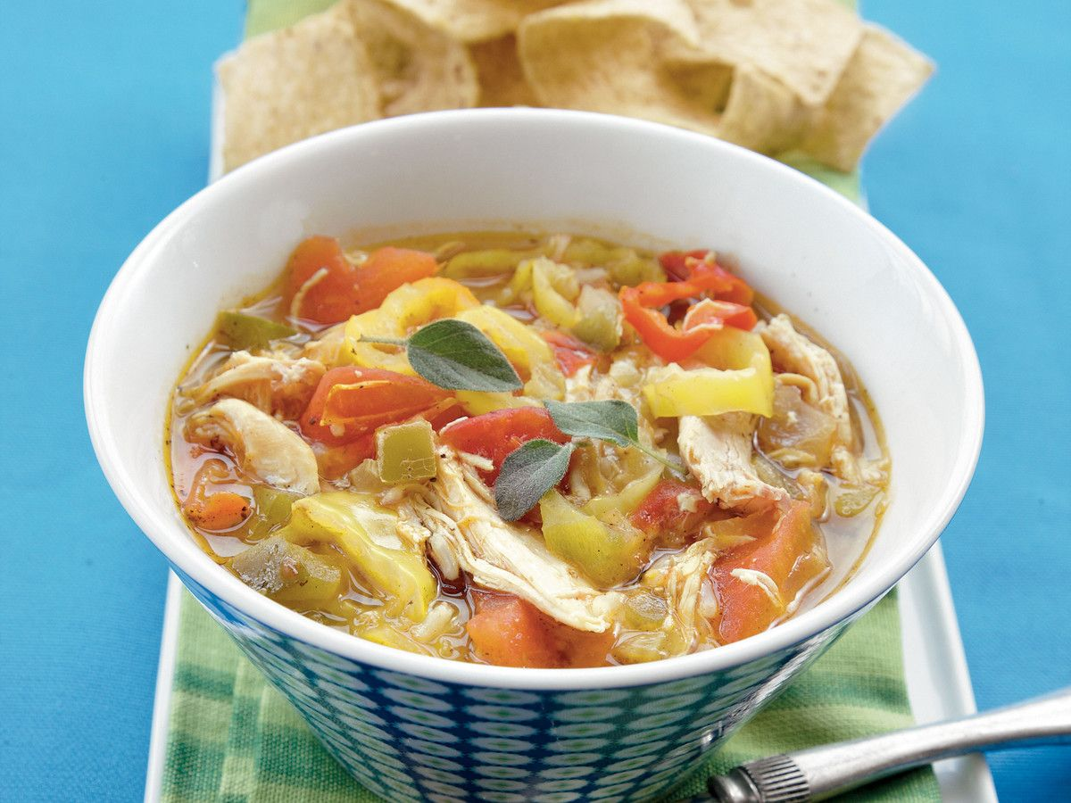 Smoked Chicken Banana Pepper Soup Recipe A Little Chilly Weather Won T Stand A Chance Against This Spicy Stuffed Banana Peppers Stuffed Peppers Soup Recipes