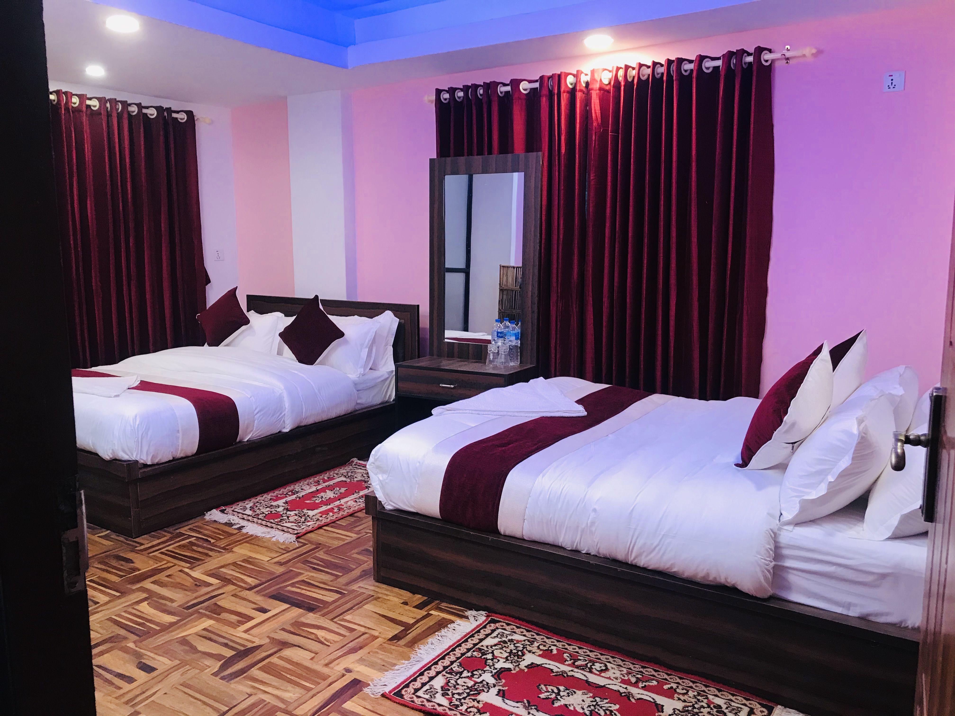 Homestay In Nepal Big Beds Twin Bedroom Bed Comforters