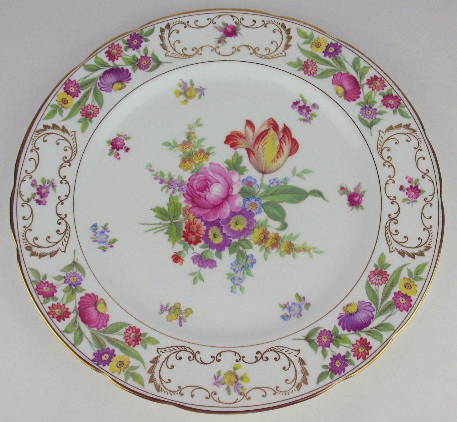 4 x Dinner Plates 10 1 2\  Hammersley Dresden Sprays Vintage Bone China England | & 4 x Dinner Plates 10 1 2\