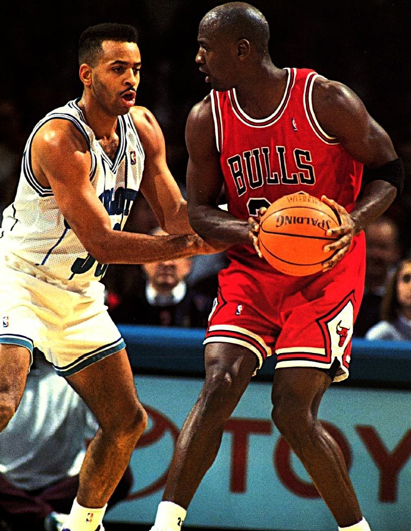 2e7c0dab51e Michael Jordan Chicago Bulls Dell Curry Charlotte Hornets | NBA ...
