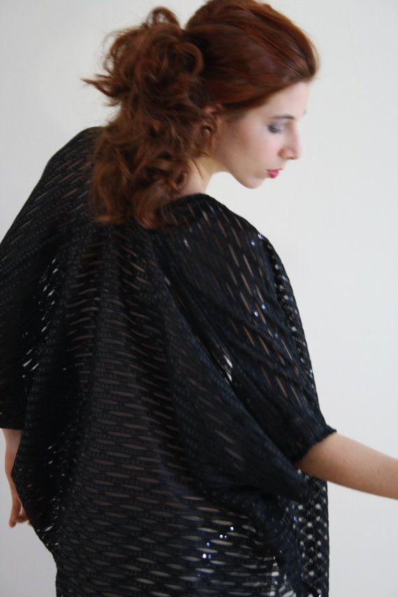black kimono jacket boho Kimono robe Kimono by WildRoseAndSparrow