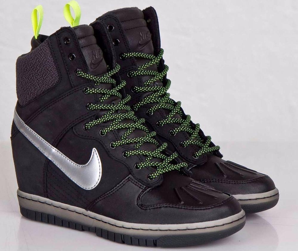 the latest e96ad 5e716 ... ebay nike women dunk sky hi sneakerboot 2.0 black fashion shoe 684954  001 sz 7 nike