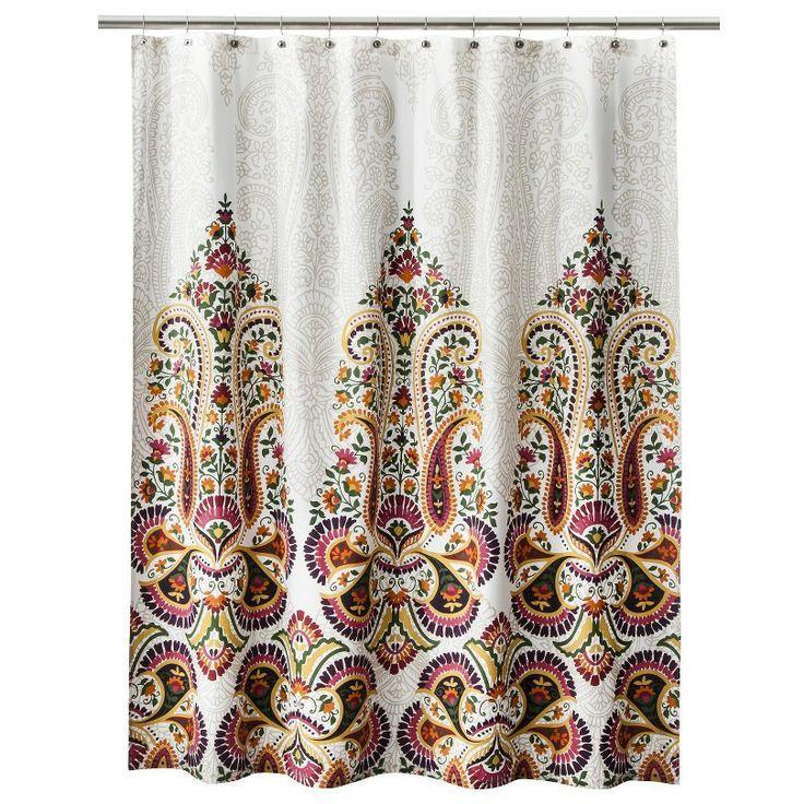 Moroccan Shower Curtain Mudhut Samovar Shower Curtain Cream