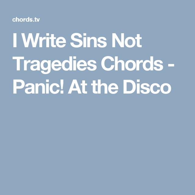 I Write Sins Not Tragedies Chords Panic At The Disco Guitar