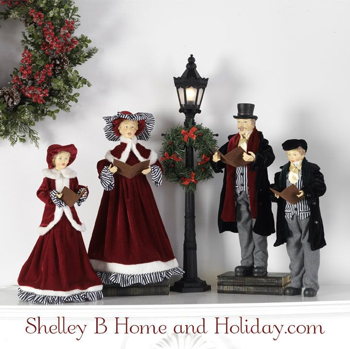 Christmas Carolers Yard Decorations: Christmas Caroler Figures Set