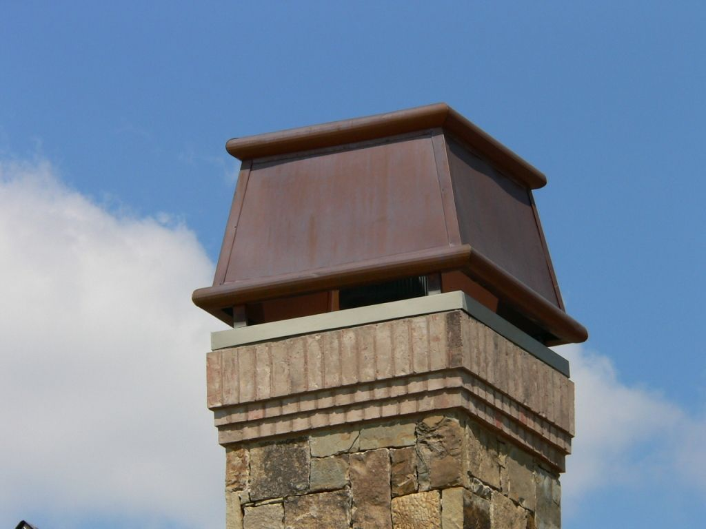 Design Chimney copper chimney cap | clean lines and a classic design add the