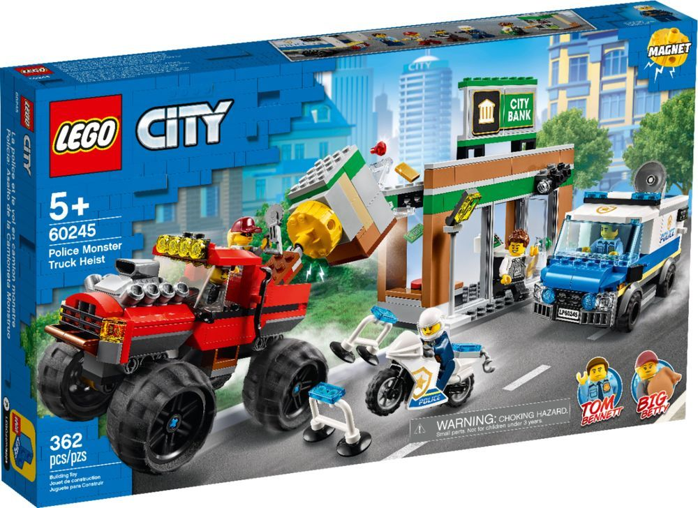 Lego City Police Monster Truck Heist 60245 6288822 Best Buy In 2020 Lego City Monster Trucks Lego City Police