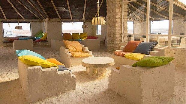 Salt Flats Bolivia Hotel Palacio De Sal A Made Of Photo