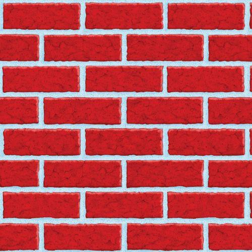 Un Poster Gigante De Plastico 15m Para Cubrir La Pared Y Crear Escenas Acogedoras De Www Fiestafacil Com Red Brick Walls Brick Room Christmas Scene Setters