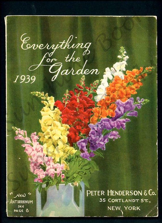 vintage print flowers seed catalog peter henderson u0026 co wall art gardening delphiniums