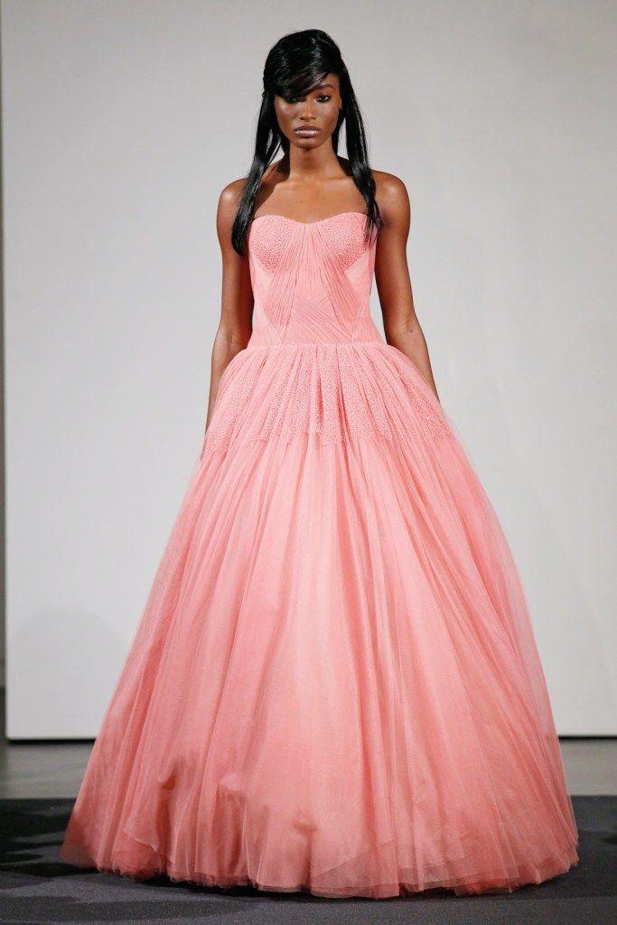 Magnífico Blush Vestido De Novia Lazaro Molde - Colección del ...