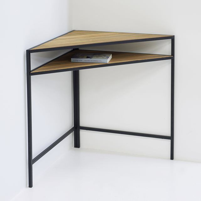 Image Metal and Acacia Corner Table La Redoute Interieurs ...