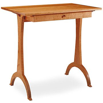 "harvard shaker side table. height is 27 1/4"". top measures 28 3/4"" x"