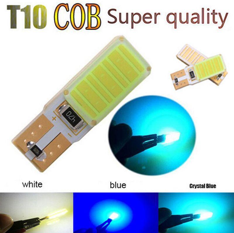 높은 전원 T10 W5W LED COB W16W T10 COB Canbus 오류 Led 자동차 오토바이 광원 정지 신호 브레이크 주차 전구 램프