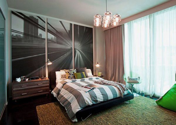 Charming Modern Teenage Boy Room Design Ideas with Beautiful Wall