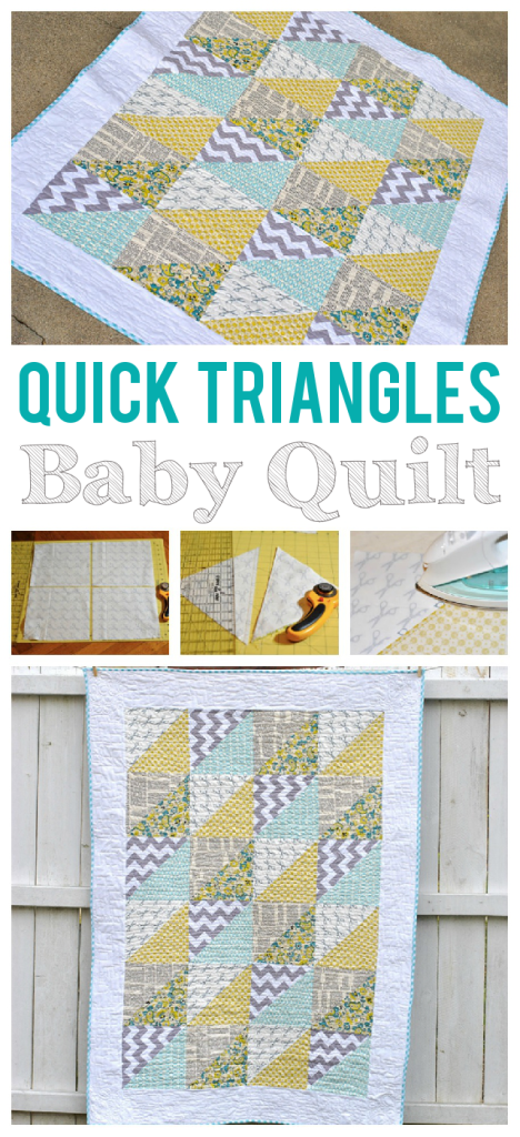 Quick Triangles Baby Quilt Tutorial - Craft Buds