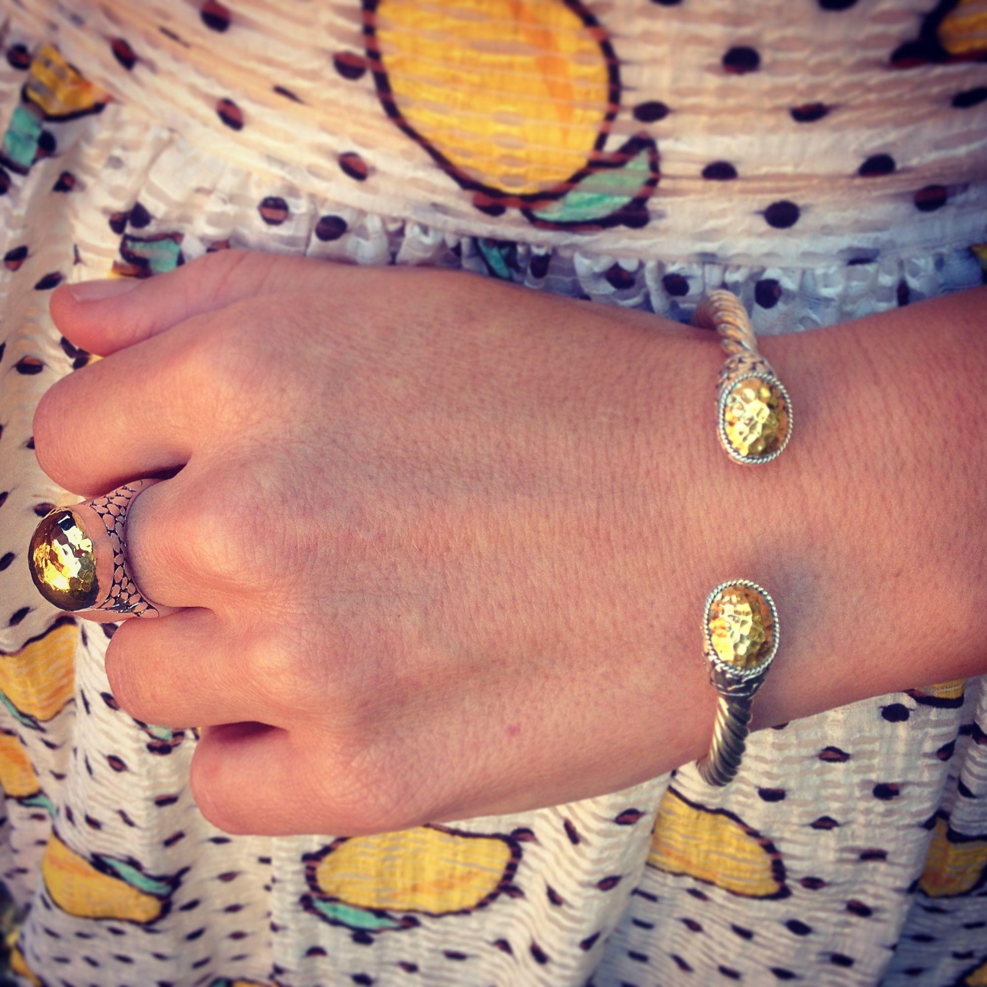 Najo River Stones Ring & Cuff