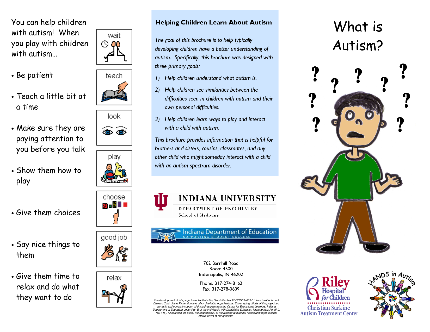 What is Autism Brochure Rev autism Pinterest