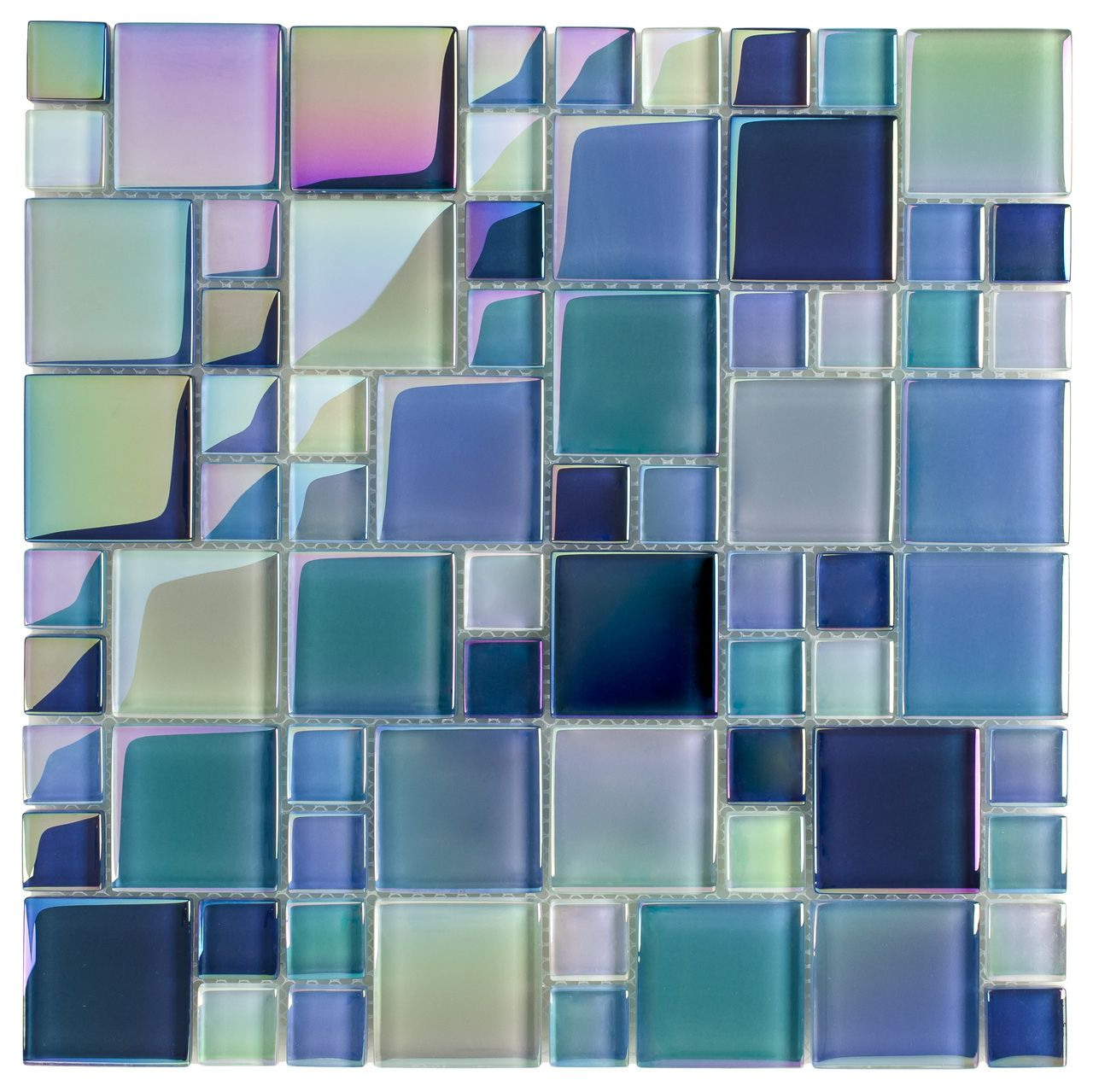 Glass Pool Tile Shimmer Turquoise Random | Glass pool, Glass and ...