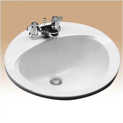Toto Ceramic Circular Drop In Bathroom Sink With Overflow