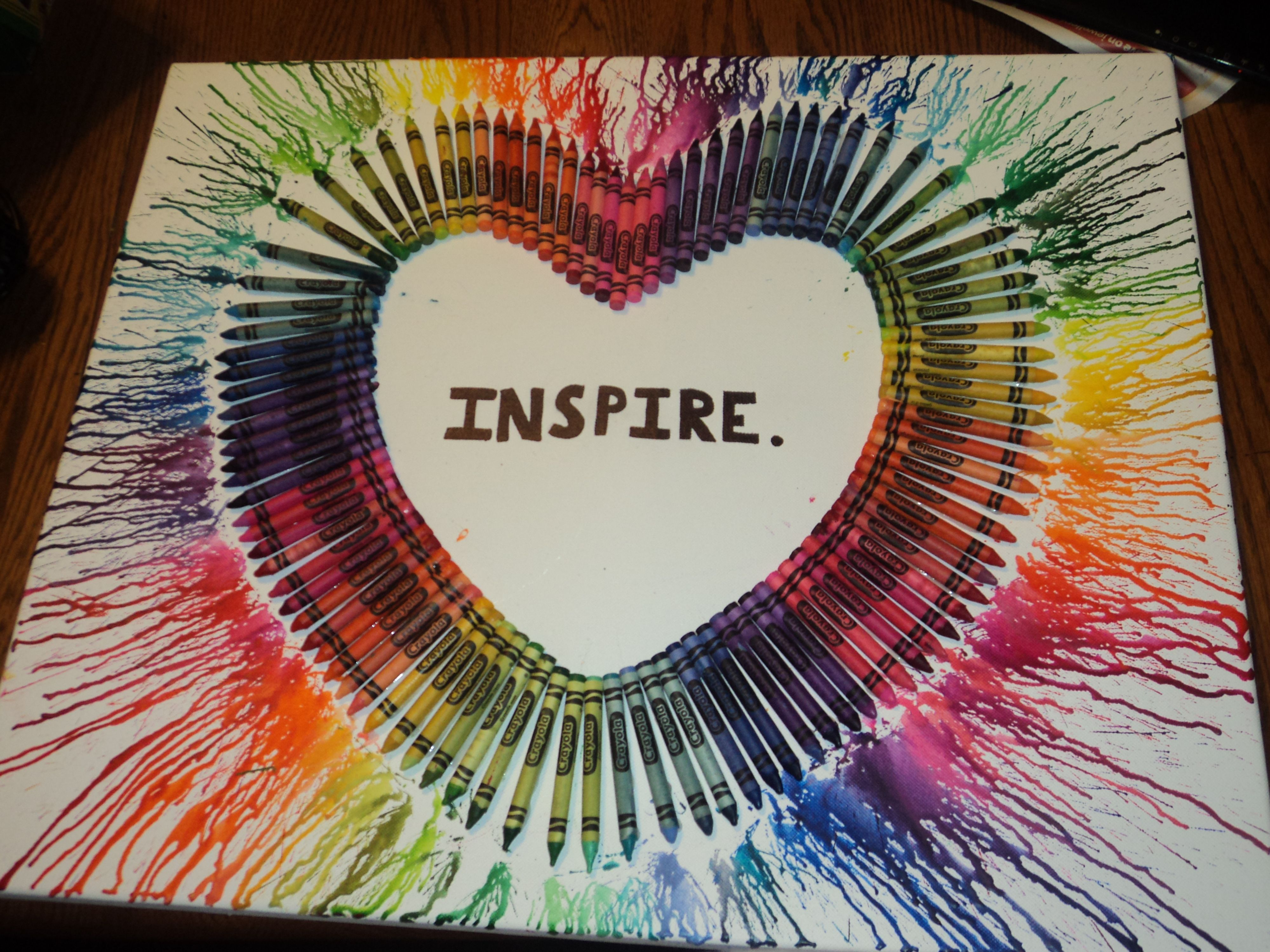 Melted Crayon Heart, Christmas Present Idea