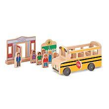 Melissa Doug Wooden School Bus Melissa Doug Toys R Us